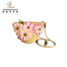 New fashion paper straw and corn husk woven beach cross body bag