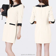 Ladies cheap office wear dresses made in korea fashion clothing