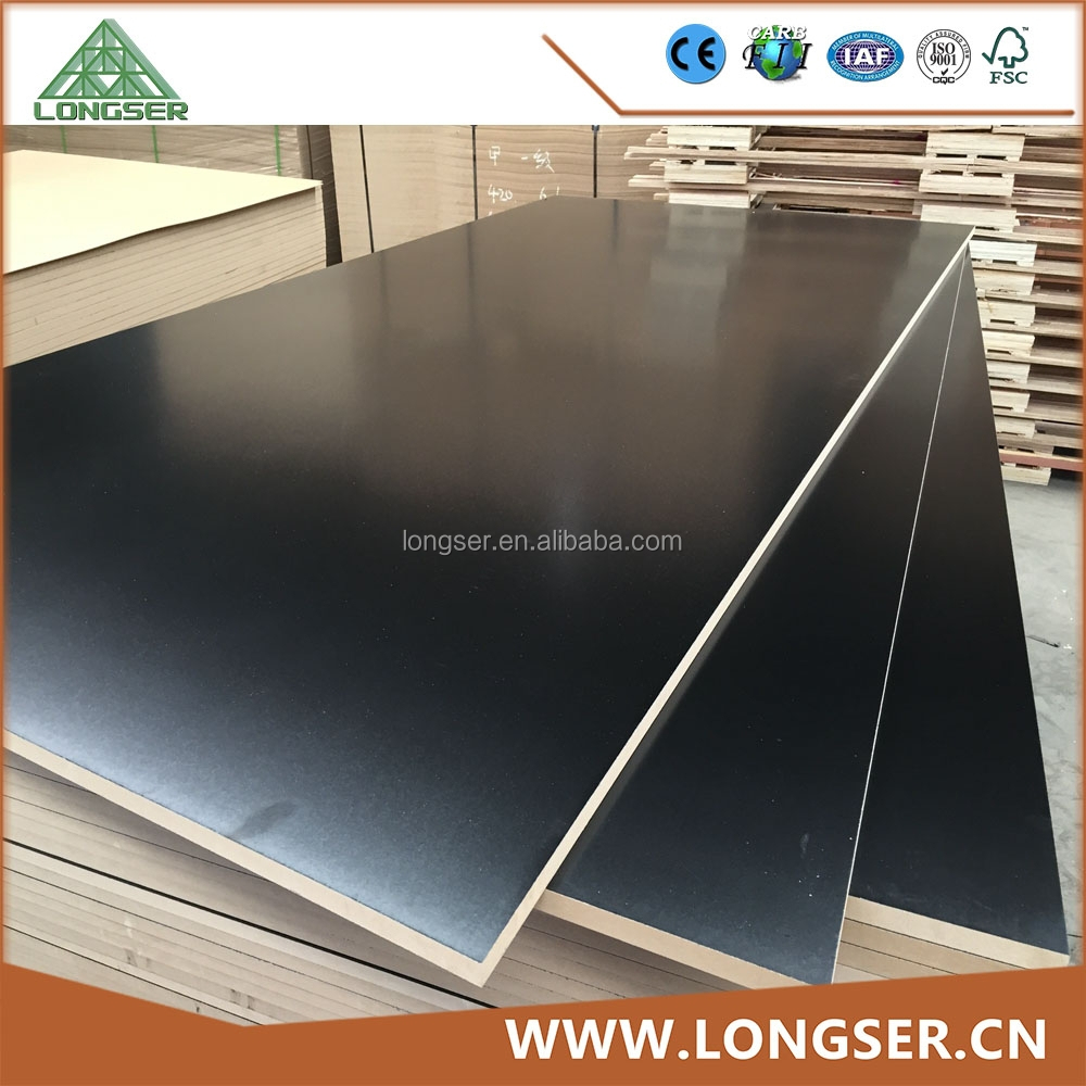 Laminated Mdf Board Suppliers ~ Black melamine laminated mdf board buy