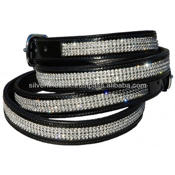 Patent Leather Bling Belts