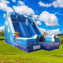 made in China customized commercial giant inflatable slide giant inflatable water slide for sale double inflatable dry slide