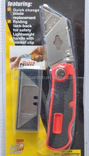 Factory direct cheap price high quality ABS material with 5 pcs T blades folding utility knife