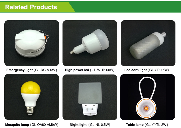 2017 New design led camping light bulb with great price