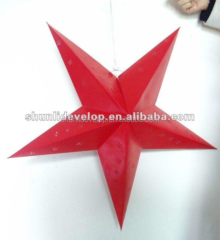 LED christmas paper star for home decoration