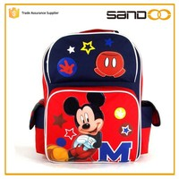 2016 China supplier Cute Minnie Mouse kids school bag, Mickey Mouse children school bag for kids