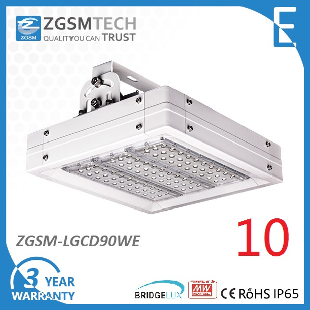 100W LED Gas Station Canopy Light with High PF Driver