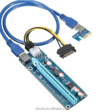 PCI-E PCI Express Riser 1X to 16X USB 3.0 with 4 pin or 6 pin power