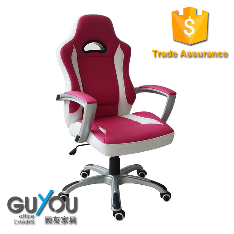 New designer racing style gaming chair pink leather office chair