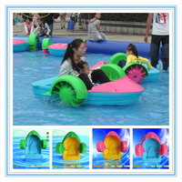 Children's favorite kids paddle boat water park amusement for pool one person paddle boat electric padel boats