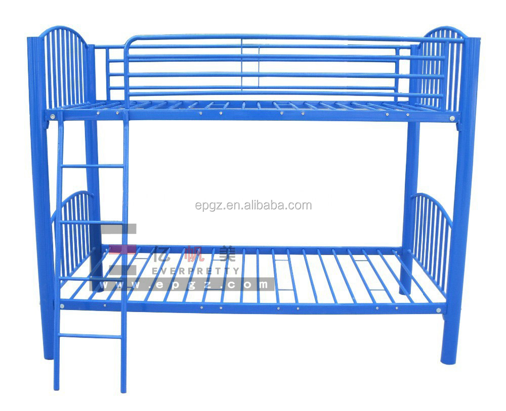 Steel double deck bed - Navy Steel Children Sleeping Double Decker Single Bunk Bed