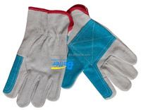 New Double Palm industrial Cow Split Leather Driving hand gloves