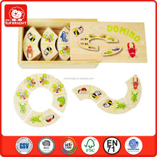 Top Bright best gift for kids wooden domino toys puzzle