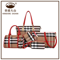 ABD- 3 HKDS 2015 handtasche leder handbag sets new model purses and ladies handbags