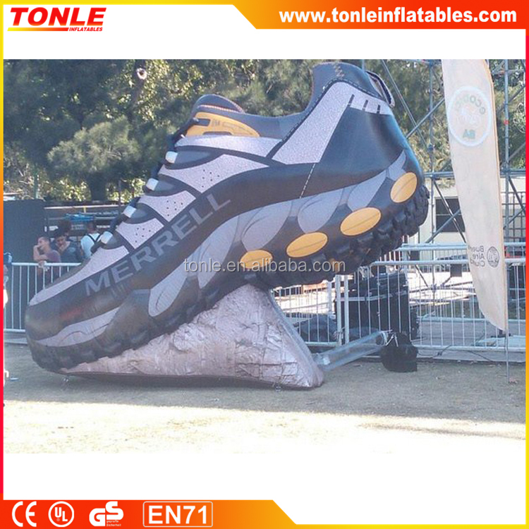Best design inflatable football shoe for sport advertising, customized shoe replica