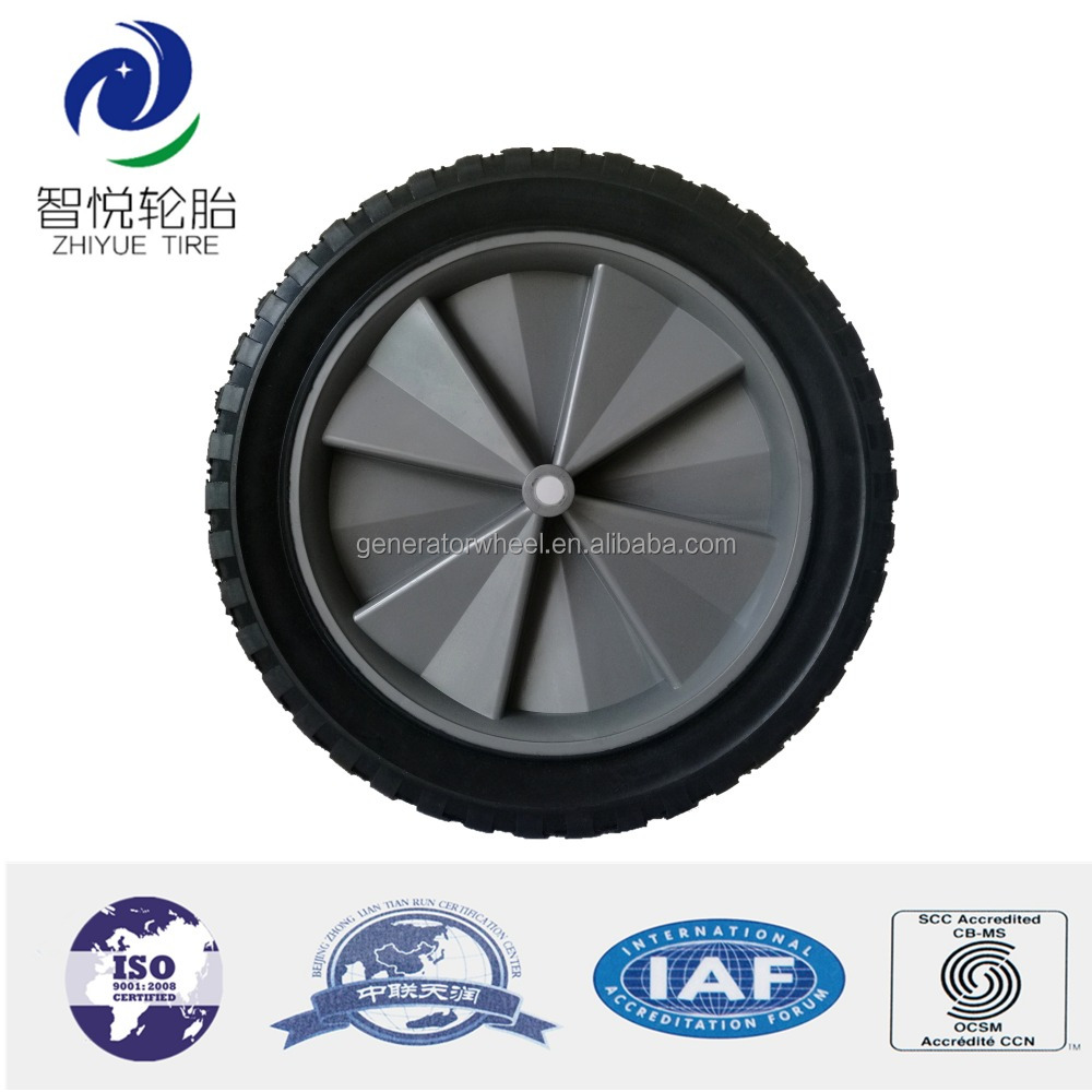 300mm solid rubber tire ab roller exercise wheel