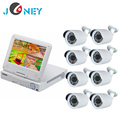 8CH all-in-one Hybrid dvr system with 10.1 inch monitor cctv security camera