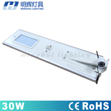 China manufacturer battery charged led solar street light for df spare parts
