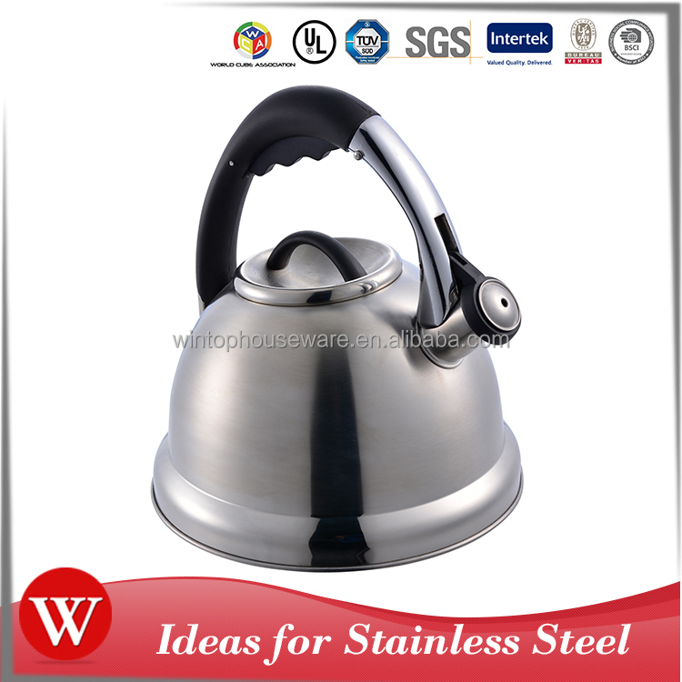 Mirror bottom nylon handle stainless steel induction tea pot camping non electric tea kettle