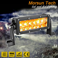 "Promotion!!! 2640LM 36W 7.5 inch 7.5"" amber led light bar drl for jeep atv truck racing"