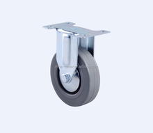 2015 50mm fixed grey rubber caster wheel