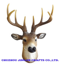 home decoration deer head wall hanging artificial animal head mounts deer antlers
