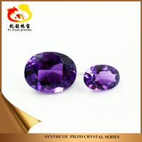 noble amethyst oval princess cut synthetic crystal quartz for jewelry making
