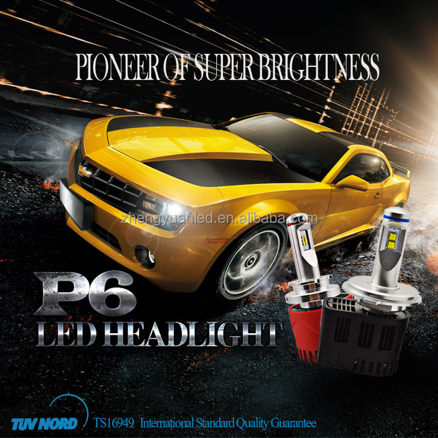 New product P6 9000LM H7 Led Headlight 4500lm most brightness car LED projectors headlight H4 H7 H8 H11 H13 all available