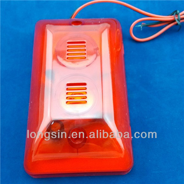 5V/12V/24V wired LED Flashing warning strobe siren,sound fire alarm siren