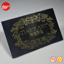 Fancy Cheap Wholesale Personalized Large Size Damask Woven Clothing Label for Cap