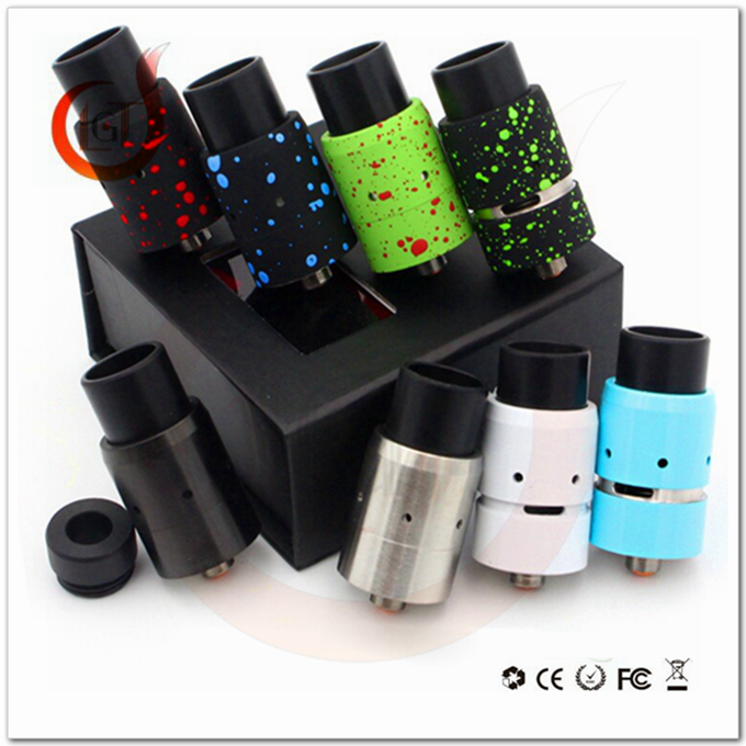 2016 New arrival USA popular velocity rda clone with superior quality rainbow color smoke cigarett