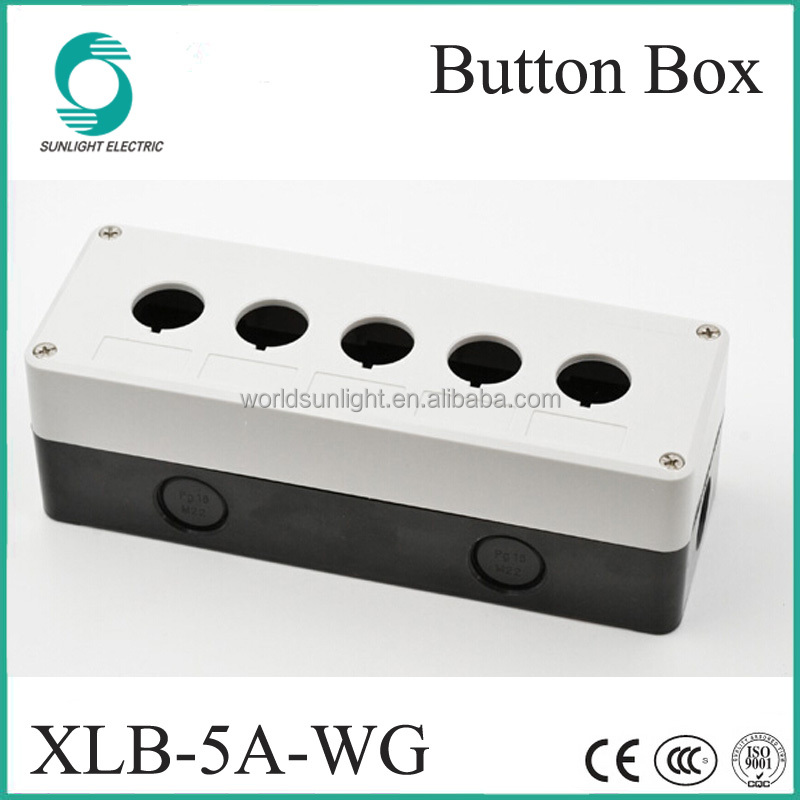 IP67 XLB-5A-WG 22mm 5 holes Waterproof Push Button Switch Control Station Box & Enclosures