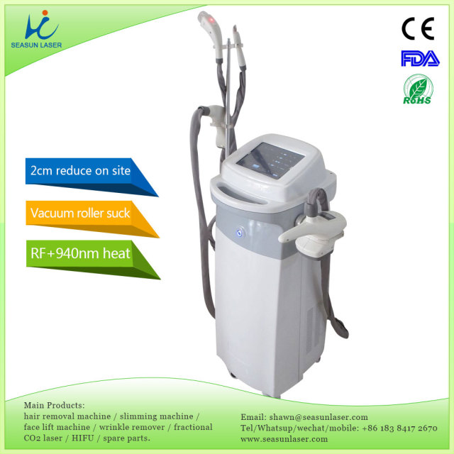 on-site effects vacuum pressure suck fat oil out RF roller cellulite burning body shape slimming laser liposuction machine