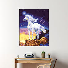 DIY oil painting acrylic paint unicorn digital oil painting living room bedroom decoration art animal home decoration gift