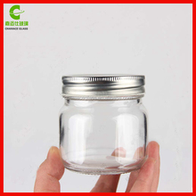 9oz 250ml Glass Canning Mason Jars with Metal Caps