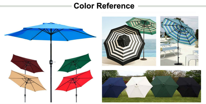 10feet garden umbrella / 300cm swimming pool umbrella crank open umbrella outdoor coffe parasol