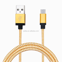Braided nylon colorful USB Data Sync Charger Cable Cord for iPhone 5 6