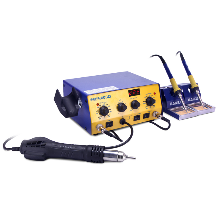 2016 Baku Low Cost Led Digital Display Reball BK-603D+smd Rework Station and two soldering station hot air