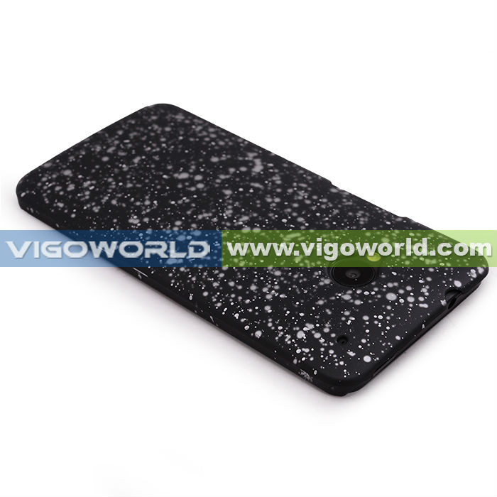 Rubberized PC Painted Starry Sky Protective Case for HTC One M7 (Black)