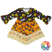 2017 Hot Baby Girl Party Dress Children Frocks Designs All Saints' Day Dresses Party Night Girl Fall Halloween Dress Wholesale