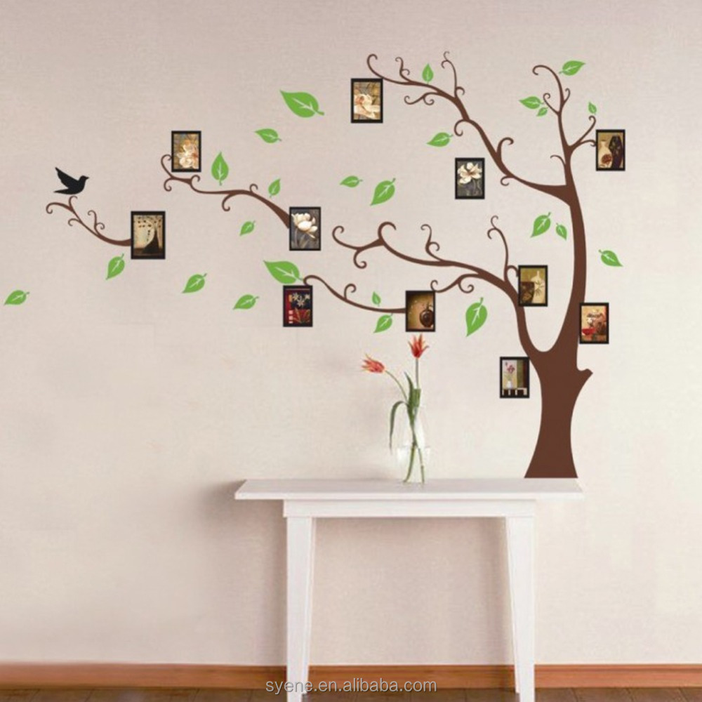 Tree Art Wall Paper Fashion Removable Photo Frame Family