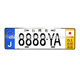 Economical Custom Design holder bracket car license plate