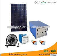 alternative energy 40w off grid portable solar power generator system with pull rod and wheels