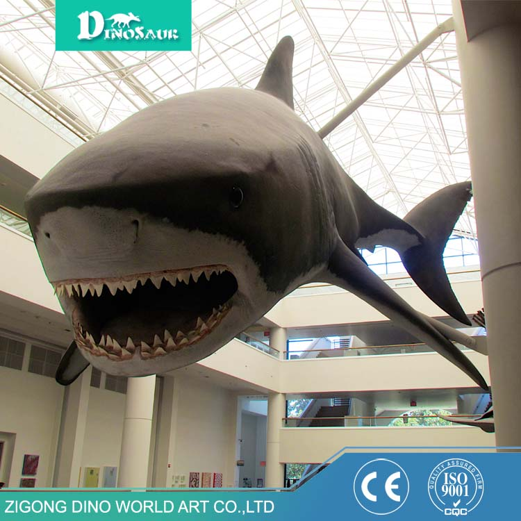 Top quality modern waterproof material outdoor display model life size resin shark