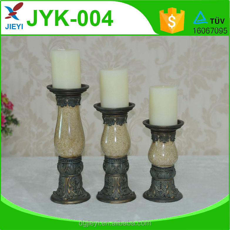 wholesale home decorative fancy bronze antique candle holder