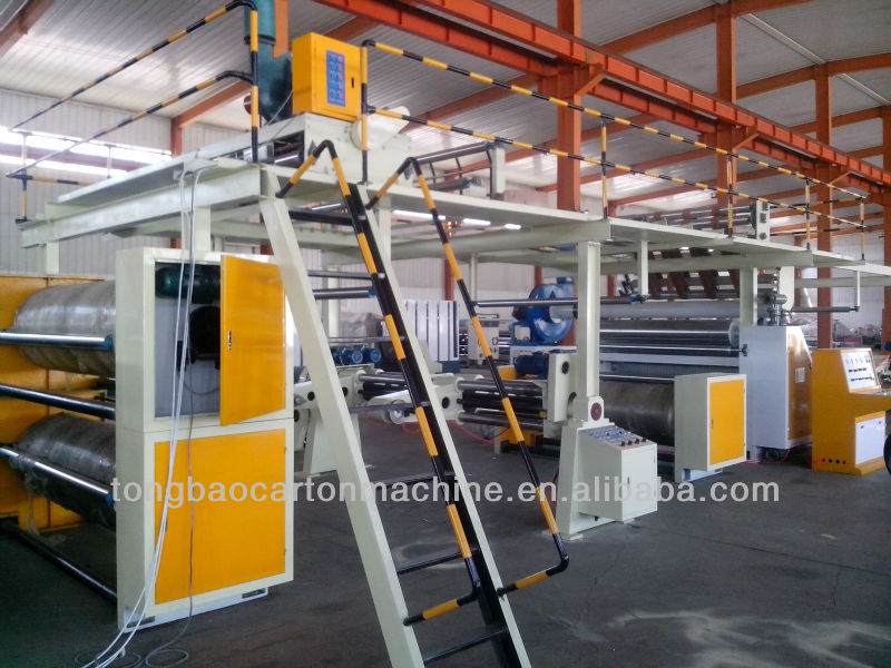 5 layer high speed corrugated paperboard production line