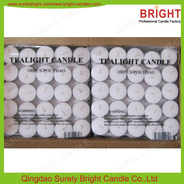 China Professional Candle Manufacturer Top Quality 10g White Tealight Candels