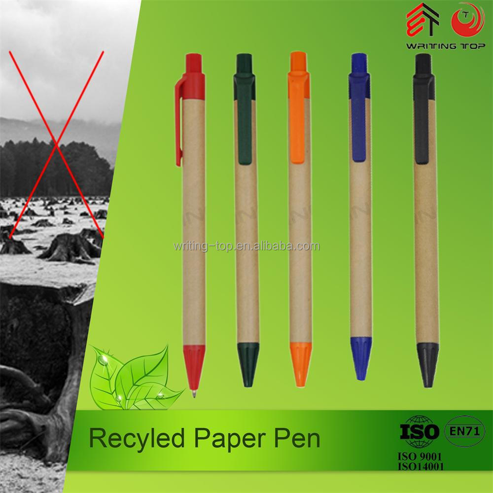 2016 recycle cheap paper eco plastic pen