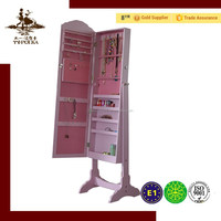 Living room cabinets of MDF furniture jewelry armoire jewelry cabinet mirror for jewelry storage
