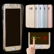 360 degrees soft tpu full cover for Samsung galaxy S5 crystal clear phone case