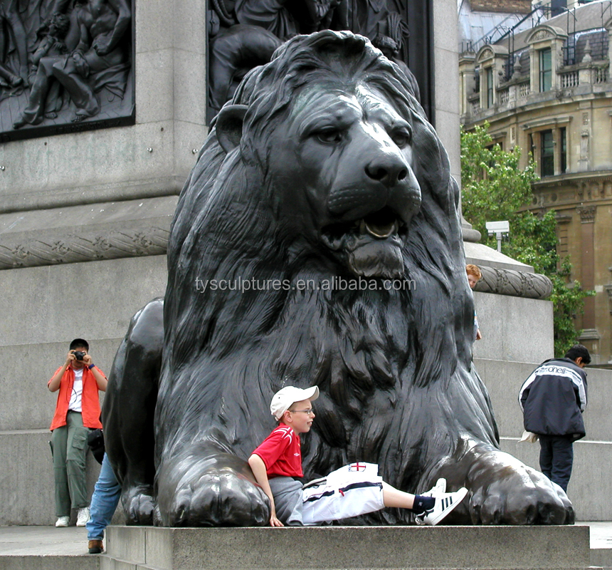 Customized statues famous modern animal sculpture large lions for decorative